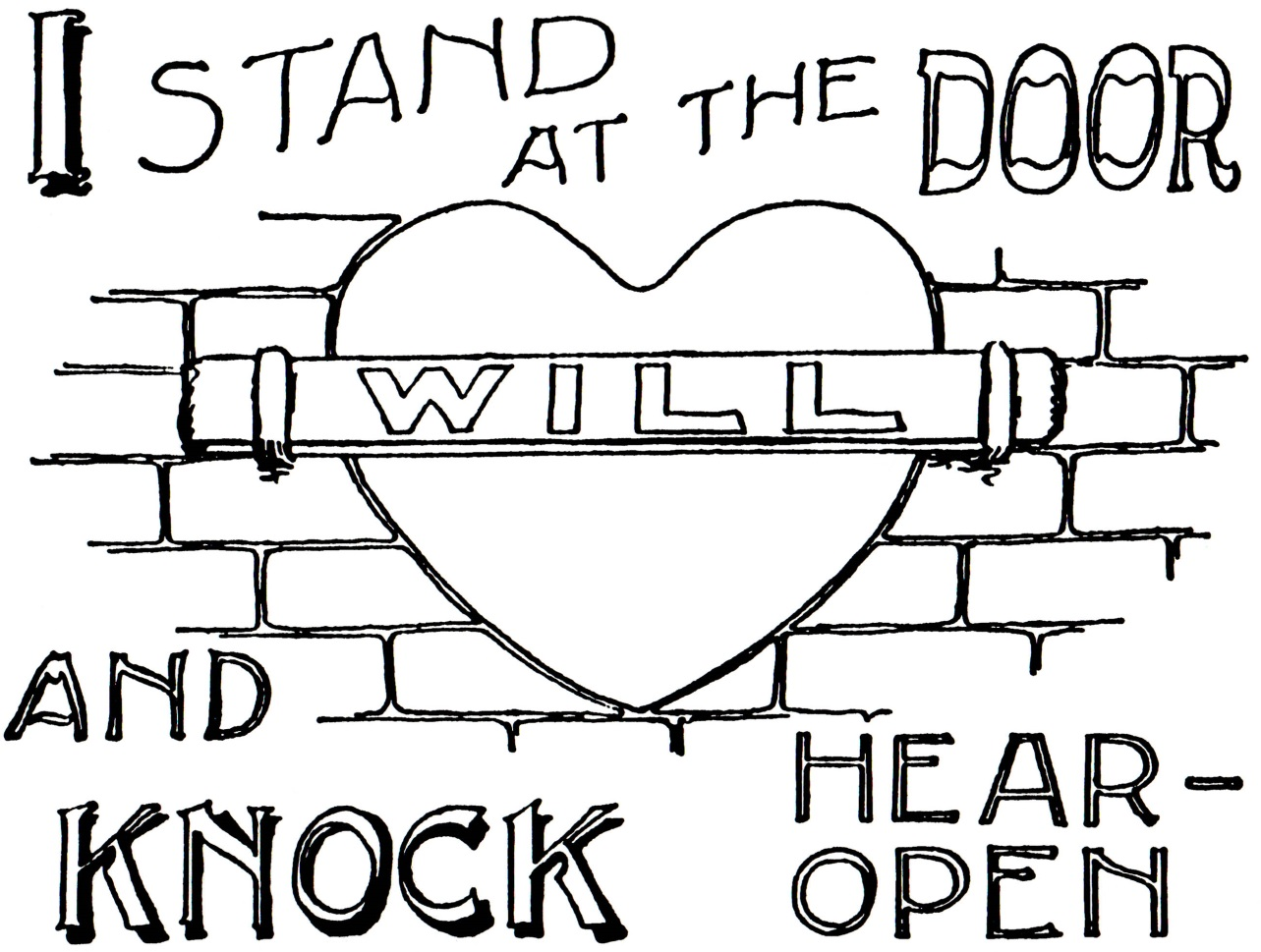 jesus knocking at the door coloring pages - i stand at the door and knock a mother s legacy